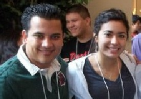 Jose Luis (left) and Sara Ramirez, a student at Arizona State