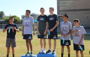 Jacob and Joshua tie for first place in the Los Alisos 2 mile run.