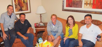 Jen (2nd from the right) with the 4 Cru Leaders who will be a part of her Process group for the next 2 years.